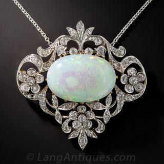 Edwardian Opal and Diamond Necklace - 1