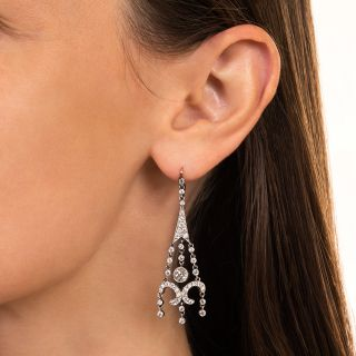 Edwardian Diamond Girandole Earrings