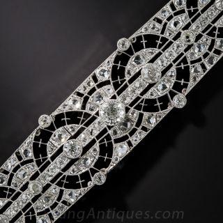 Edwardian Platinum Diamond Bracelet - 1