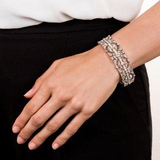 Edwardian Platinum Diamond Bracelet