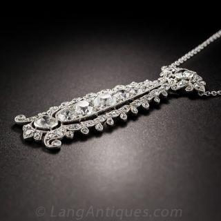 Edwardian Platinum Diamond Lavaliere