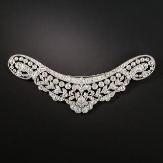 Edwardian Platinum Diamond Neckline Brooch - 2