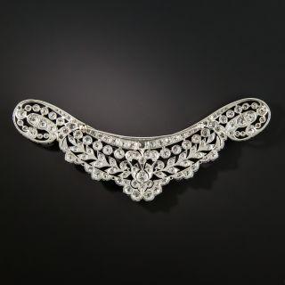 Edwardian Platinum Diamond Neckline Brooch