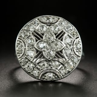 Edwardian Round Diamond Dinner Ring - 2