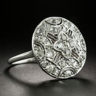 Edwardian Round Diamond Dinner Ring