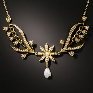 Edwardian Seed Pearl Garland Necklace - 3