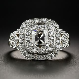 Edwardian Style 1.10 Carat Cushion-Cut Diamond Ring
