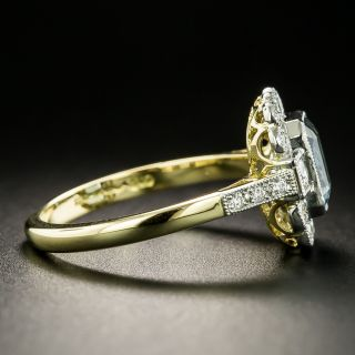 Edwardian Style 1.16 Carat Aquamarine and Diamond Ring