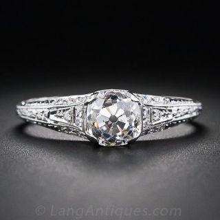 Edwardian Style 1.48 Diamond Engagement Ring - 1