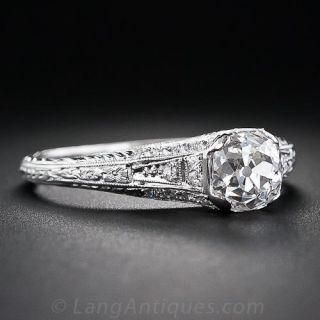 Edwardian Style 1.48 Diamond Engagement Ring