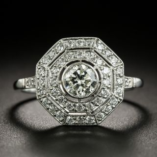 Edwardian Style .48 Carat Octagonal Diamond Ring - 3