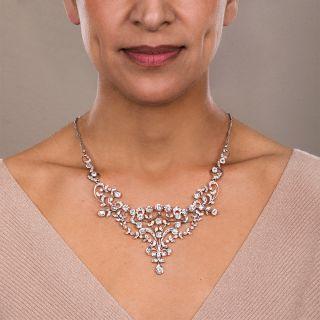 Edwardian Style Diamond Bib Necklace