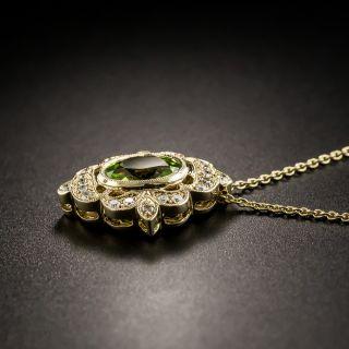 Edwardian Style Peridot and Diamond Pendant