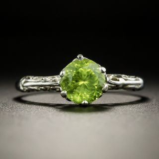 Edwardian Style Peridot Solitaire Ring - 2