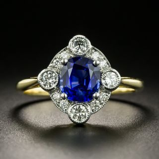 Edwardian Style Sapphire and Diamond Ring - 2