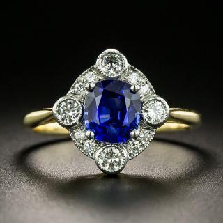 Edwardian Style Sapphire and Diamond Ring - 2