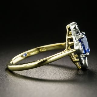 Edwardian Style Sapphire and Diamond Ring