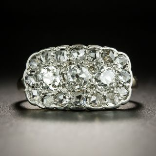 Edwardian Three-Stone Diamond Cluster Ring - 2