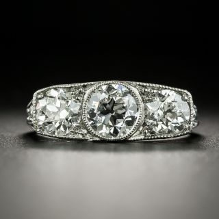 Edwardian Three-Stone Diamond Ring - GIA - 2