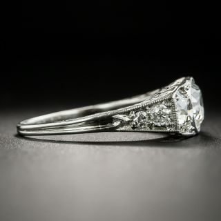 Edwardian Three-Stone Diamond Ring - GIA