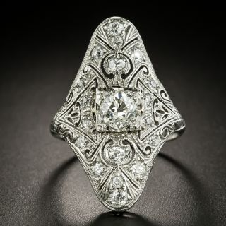 Elongated Art Deco Diamond Dinner Ring - 3