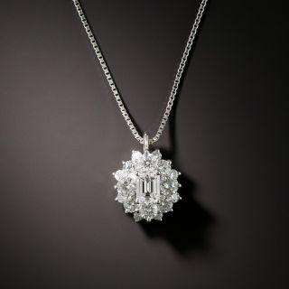 Emerald-Cut Diamond Cluster Pendant - 3