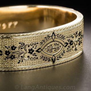 Enameled Victorian Bangle Bracelet