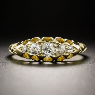 English Edwardian 18K Five-Stone Diamond Ring c.1909