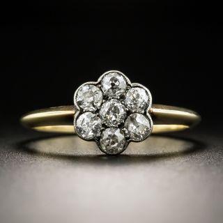 English Edwardian Diamond Cluster Ring - 2
