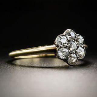 English Edwardian Diamond Cluster Ring