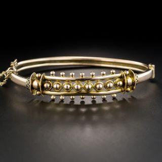 English Rose Gold Victorian Bangle Bracelet