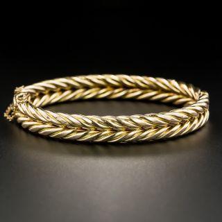English Victorian Gold Twist Bangle - 2