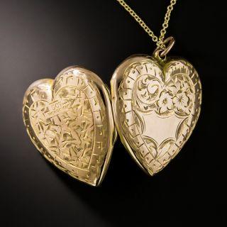 English Victorian Heart Locket
