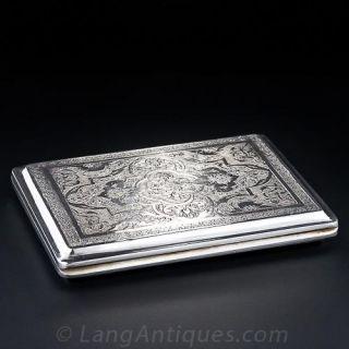 Engraved Silver Cigarette Case