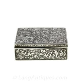 Engraved Silver Compact