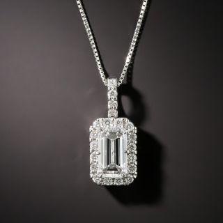 Estate 1.00 Carat Emerald-Cut Diamond Drop - GIA D SI1 - 1