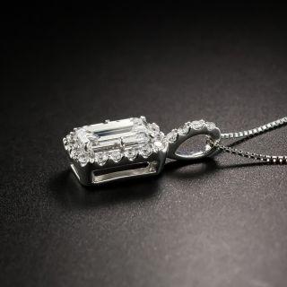 Estate 1.00 Carat Emerald-Cut Diamond Drop - GIA D SI1