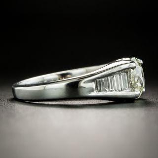 Estate 1.00 Carat Oval Diamond Engagement Ring