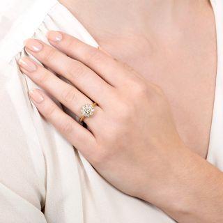 Estate 1.00 Carat Total Diamond Cluster Ring