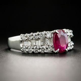 Estate 1.01 Carat Burma Ruby and Diamond Ring