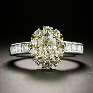 Estate 1.01 Carat Cushion-Cut Diamond Halo Ring - GIA  M VVS2 - 3