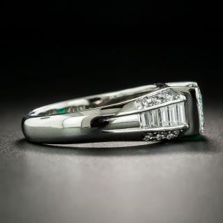 Estate 1.01 Carat Emerald and Diamond Ring