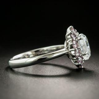 Estate 1.02 Carat Oval-Cut Diamond and Pink Diamond Ring - GIA D VS2