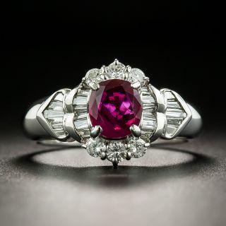 Estate 1.03 Carat Burmese Ruby and Diamond Ring - 1