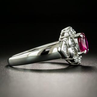 Estate 1.03 Carat Burmese Ruby and Diamond Ring