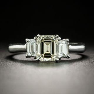 Estate 1.03 Carat Emerald Cut Diamond Engagement Ring - GIA - 2