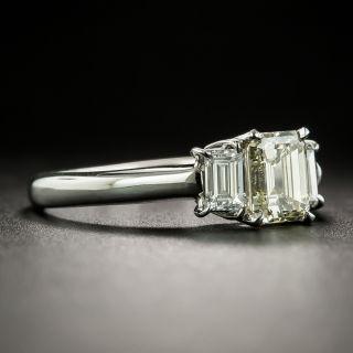 Estate 1.03 Carat Emerald Cut Diamond Engagement Ring - GIA