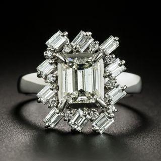 Estate 1.07 Carat Emerald-Cut Diamond Engagement Ring - 3