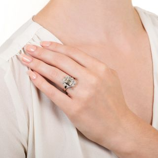 Estate 1.07 Carat Emerald-Cut Diamond Engagement Ring