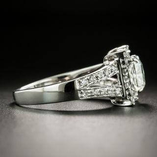 Estate 1.09 Carat Cushion-Cut Diamond Engagement Ring